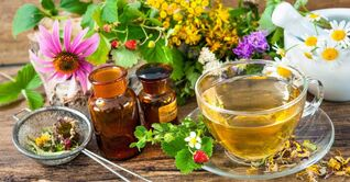Herbal infusions for the treatment of cervical osteochondrosis.